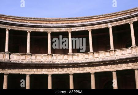 Palacio de Carlos V - der Alhambra, Granada, Andalusien, Spanien - Stockfoto