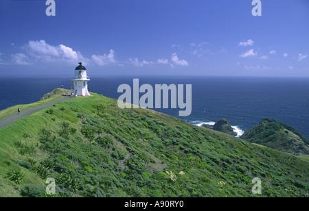 New Zealand Cape Reinga Sicht Leuchtturm - Stockfoto