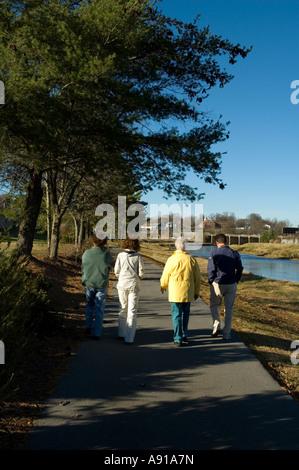 Fluss zu Fuß Trail Sevierville TN - Stockfoto