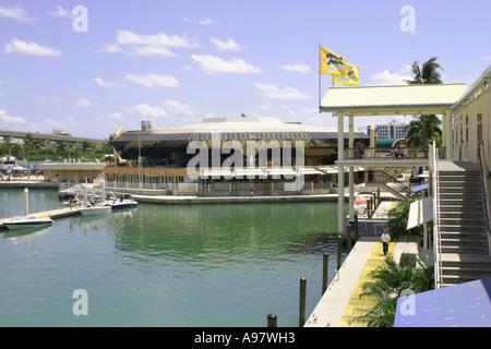 Ansicht des Bayside Marketplace, befindet sich in Miami, Florida, Vereinigte Staaten von Amerika - Stockfoto