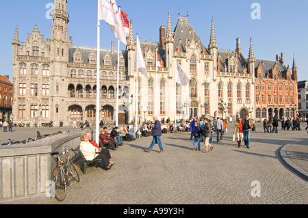 Das Landesgericht oder Haus Brügge (Brugge) in den Marktplatz. - Stockfoto