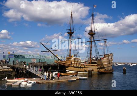 Massachusetts Plymouth Mayflower II Vollausschlag Replica gebaut in England 1955-57 - Stockfoto