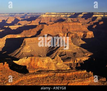 Grand Canyon South Rim in dramatischen Dämmerlicht - Stockfoto