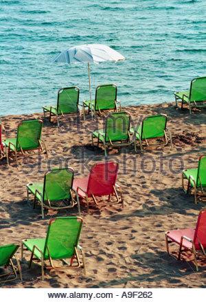 Griechenland am Strand von Agios Georgios Korfu - Stockfoto