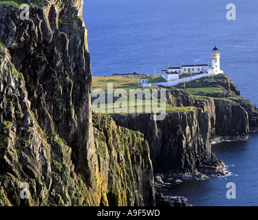 GB - Schottland: Landschaftlich Point Lighthouse auf der Isle Of Skye Stockfoto