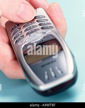 Mann-SMS - Stockfoto