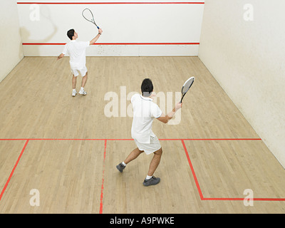 Männer spielen squash - Stockfoto