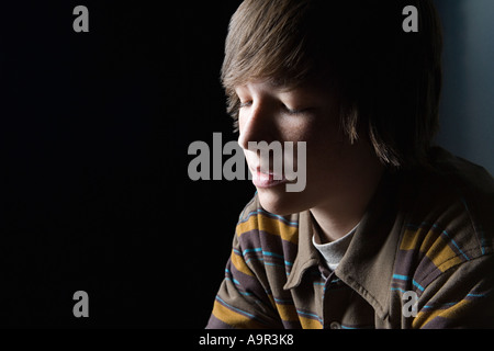 Porträt von einem Teenager - Stockfoto