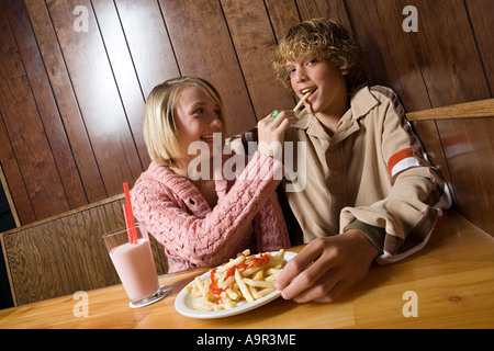 Teenager-Paar auf ein Datum - Stockfoto