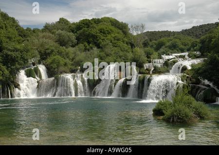 Wasserfälle im Nationalpark Plitvicka Jezera Croatia - Stockfoto