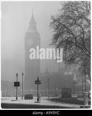 Verschneiten London - Stockfoto