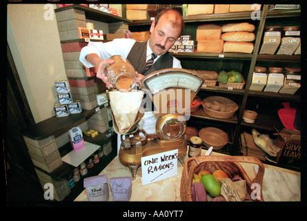 Lebensmittel Shop Rationen - Stockfoto