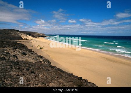 Spanien Kanarische Inseln Fuerteventura Playa de Tierra Dorada - Stockfoto