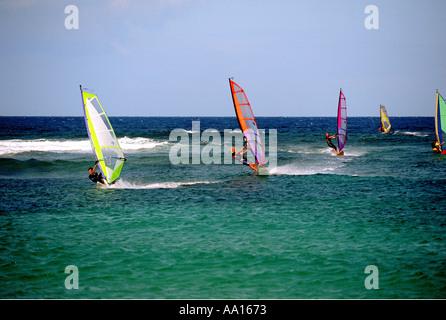 Spanien-Kanarische Inseln Fuerteventura Playa del Moro - Stockfoto
