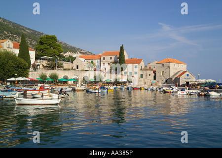 Hafen von Bol Insel Brac Dalmatien Kroatien - Stockfoto