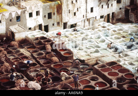 Gerbereien - Fes, Marokko - Stockfoto