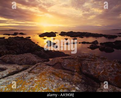 Sonnenuntergang am Haughharry, North Uist, Schottland - Stockfoto