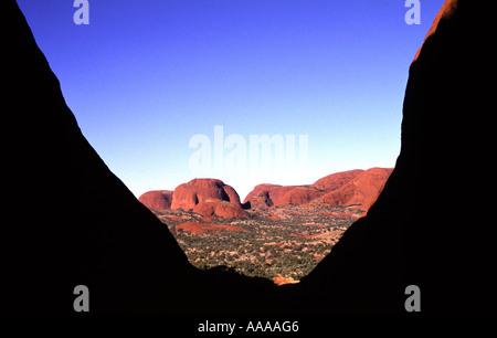 Valley of the Wind bei Kata Tjuta die Olgas in den nördlichen Territorien in Australien - Stockfoto