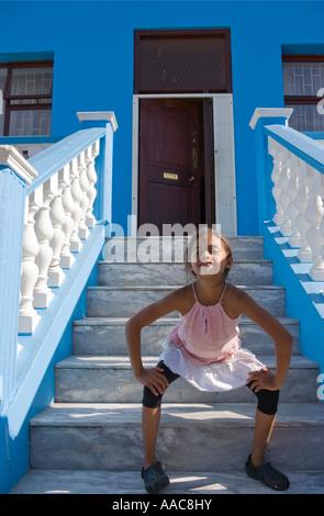 Mädchen, Bo Kaap, Kapstadt, Südafrika - Stockfoto