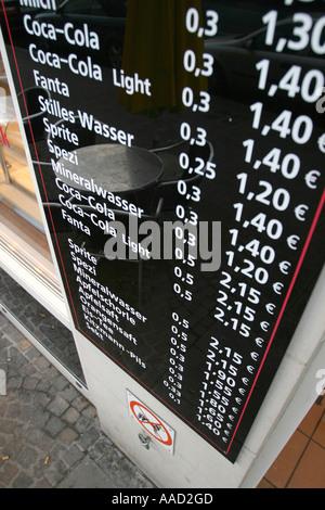 Preis-board - Stockfoto