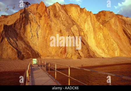 Alum Bay farbigen Sand Isle Of Wight England Great Britain UK - Stockfoto