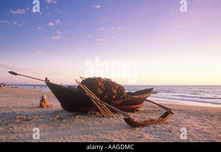 Angelboot/Fischerboot Colva Beach Goa Indien - Stockfoto
