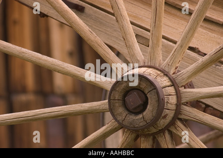 Wagon Wheel Detail Bodie State Historical Park Geisterstadt California - Stockfoto