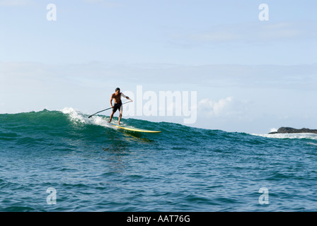 Stand Up Paddling, aka Stand Up Paddle Surfing, Hawaii - Stockfoto