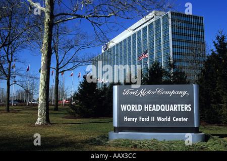 Michigan Detroit das Hauptquartier für die Ford Motor Company - Stockfoto