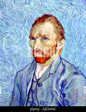 Vincent Van Gogh 1853-1890 holländischen Niederlanden Self Portrait 1889 - Stockfoto