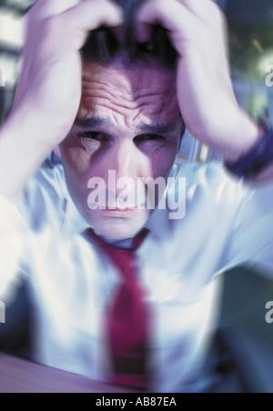 Besorgt Geschäftsmann - Stockfoto