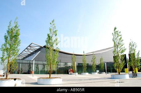 Neue Ausstellungsgebäude Handel fair Stuttgart Baden-Wuertttemberg Deutschland - Stockfoto