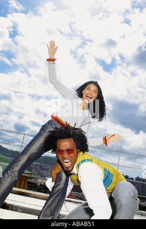 Mann und Frau, die Spaß - Stockfoto