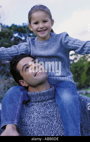 Vater mit Tochter - Stockfoto