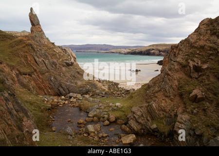 GB Schottland Sango Bay in der Nähe von Durness im Hochland - Stockfoto