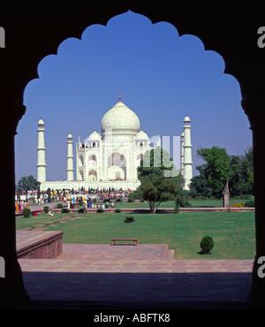Asien Indien Uttar Pradesh State Agra, Taj Mahal - Stockfoto