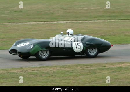 Lister Jaguar costin Sportwagen Motorsport Goodwood Revival Meeting 2003 West Sussex England Vereinigtes Königreich - Stockfoto