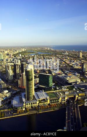 Crown Towers Casino and Entertainment Centre Yarra River Melbourne Victoria Australien - Stockfoto