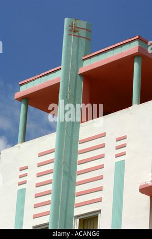 MC Alpin Hotel Miami Florida USA Art-Deco-Bereich - Stockfoto