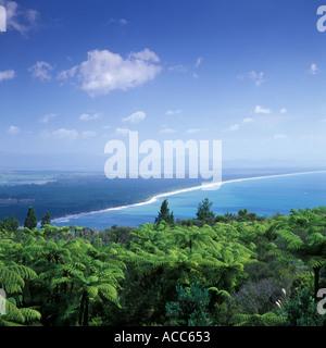 Bay of Plenty Aussicht vom Gipfel des Mount Maunganui in der Nähe von Tauranga Neuseeland - Stockfoto