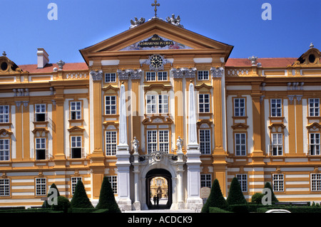Stift Melk Benediktiner-Abtei Kloster Österreich österreichische Geschichte historisch Kirche Altstadt - Stockfoto