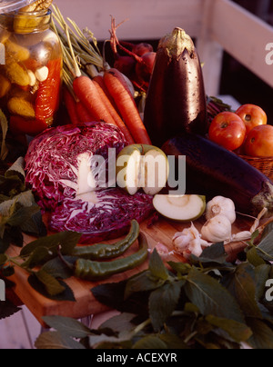 Frisches Gemüse - Stockfoto