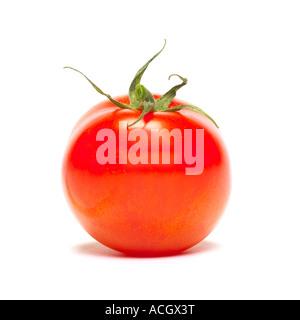 Eine Seitenansicht der eine frische reife rote Tomate - Stockfoto