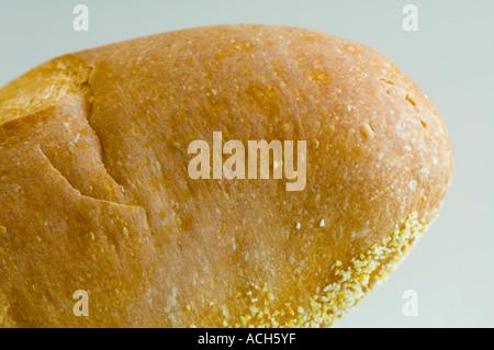Baguette Baguette Closeup Ausschnitt auf weißem Hintergrund - Stockfoto