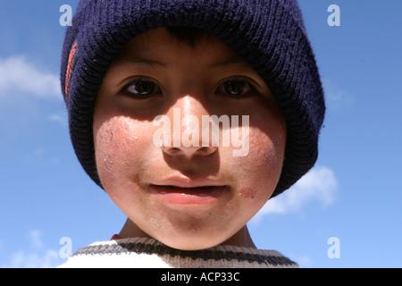 Kleiner Junge Zumbahua Ecuador - Stockfoto