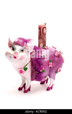 Sparschwein verkleidet - Stockfoto