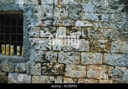 Mauern von Fort James in Plymouth auf der Karibik Insel Tobago - Stockfoto