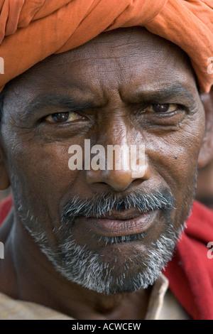 Porträt von einem Mann Delhi Indien - Stockfoto