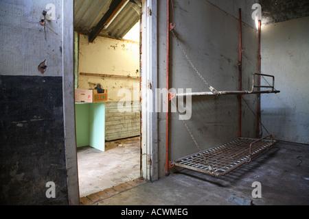Wiederaufbau einer inneren eines Hauses, Etagenbetten - Stockfoto