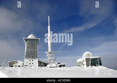 Wetterstation auf dem Brocken - Stockfoto